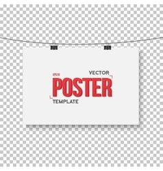 Poster mockup realistic eps10 paper vector