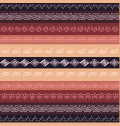 Seamless tribal texture boho borders vector