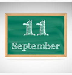 September 11 day calendar school board date vector