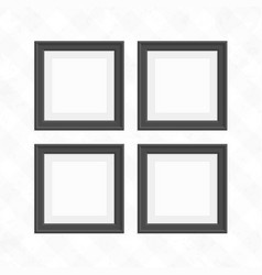 set of black square frames vector image