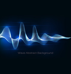 Sound wave abstract background audio waveform vector