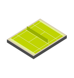 Tennis court isometric isolated on white vector