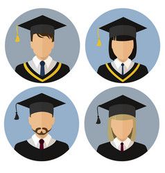 the icons set student student avatar a man and vector image vector image
