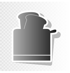 Toaster simple sign new year blackish vector
