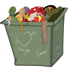 Waste container cartoon vector