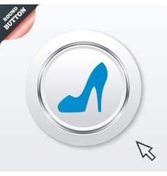 Womens shoe sign icon High heels shoe vector image