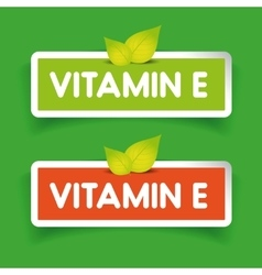 Vitamin e label set vector