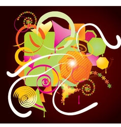 Abstract colorful shapes art design vector
