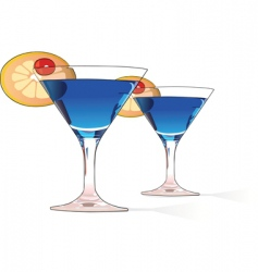 Blue cocktails vector