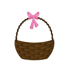 Happy easter basket isolated icon vector