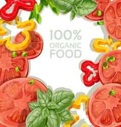 Background for your text with vegetables vector image