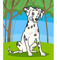 Dalmatian purebred dog cartoon vector