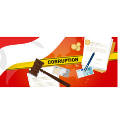 Indonesia fights corruption money bribery vector