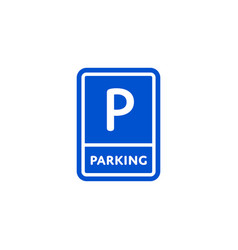 Parking zone roadsign isolated on white background vector