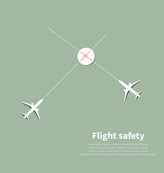 Aviation safety vector