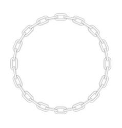 Metal round chain vector