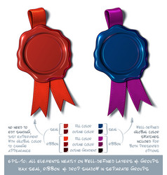 Wax shield blank - red and dark blue vector