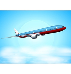 An aeroplane in the sky vector