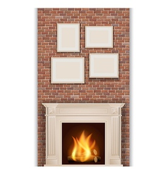 Classic fireplace vector