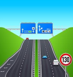 Autobahn infographics vector image