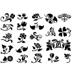 Flower pictograms vector