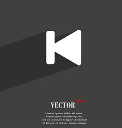 Fast backward icon symbol flat modern web design vector