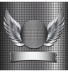 metallic disco ball  vector image
