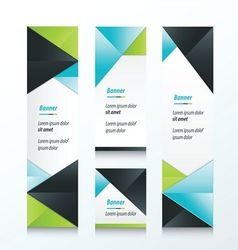 Abstract banner set 3 color vector
