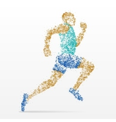 Runner marathon athletics competition vector