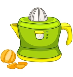 cartoon home kitchen juicer vector image