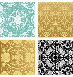 Ornamental backgrounds set vector
