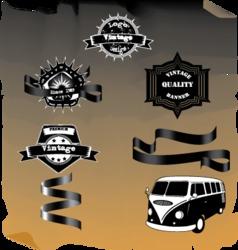 Vintage-logo vector