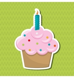 Cupcake icon design vector