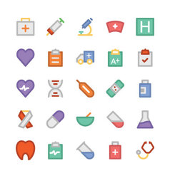 Health colored icons 1 vector