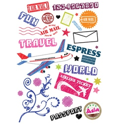 travel sketch vector image