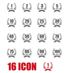 Anniversary label collection vector