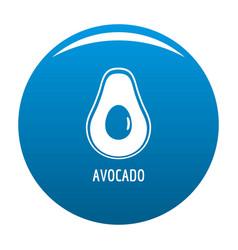 avocado icon blue vector image