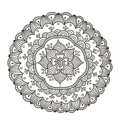 Beautiful deco floral mandala vector