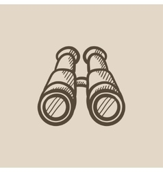 Binoculars sketch icon vector