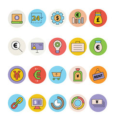 Business and Office Colored Icons 13 vector image vector image