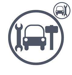 Car repair icon vector