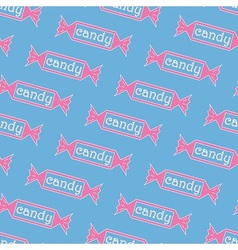 Cartoon Candy pattern vector image
