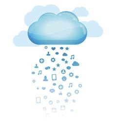 Cloud computing concept - vector