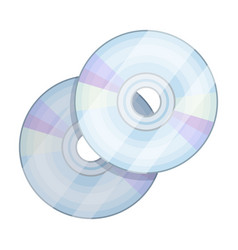dvd discsmaking movie single icon in cartoon vector image
