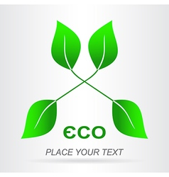 Eco icon 001 vector