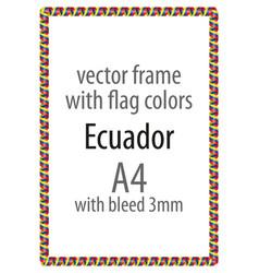 flag v12 ecuador vector image