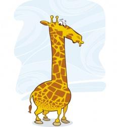 funny giraffe vector image vector image