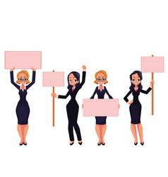 Girls women businesswomen in business suits vector