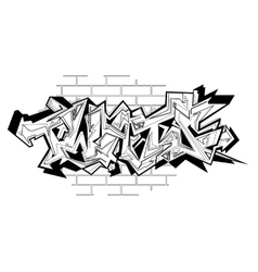 Graffiti urban art vector image