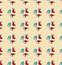 Greeting New Year pattern vector image